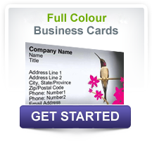 Full colour business cards. Design online now!