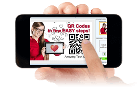 Instant QR code generation for your business card or postcard