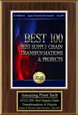 Amazing Print | Best 100 Supply Chain Transformations & Projects 2017