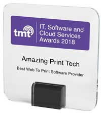 2018 TMT - IT, Software & Cloud Services Awards | Best Web To Print Software Provider | Amazing Print Tech