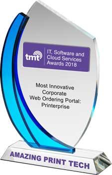 2018 TMT - IT, Software & Cloud Services Awards | Most Innovative Corporate Web Ordering Portal: Printerprise | Amazing Print Tech