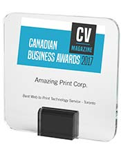 CV Magazine Canadian Business Awards 2017 | Best Web to Print Technology Service - Toronto