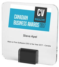Amazing Print Tech | CV Magazine Canadian Business Awards 2017 - Slava Apel | Web to Print Software CEO of the Year 2017 - Canada